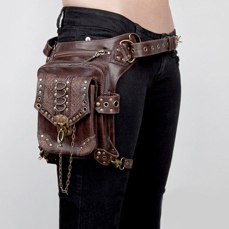 Fine Jewelry Reliable Norbinus Men Waist Bags Motorcycle Drop Leg Thigh Holster Bag Women Steampunk Crossbody Bag Skull Hip Belt Bag Travel Pack Pouch Attractive Designs;