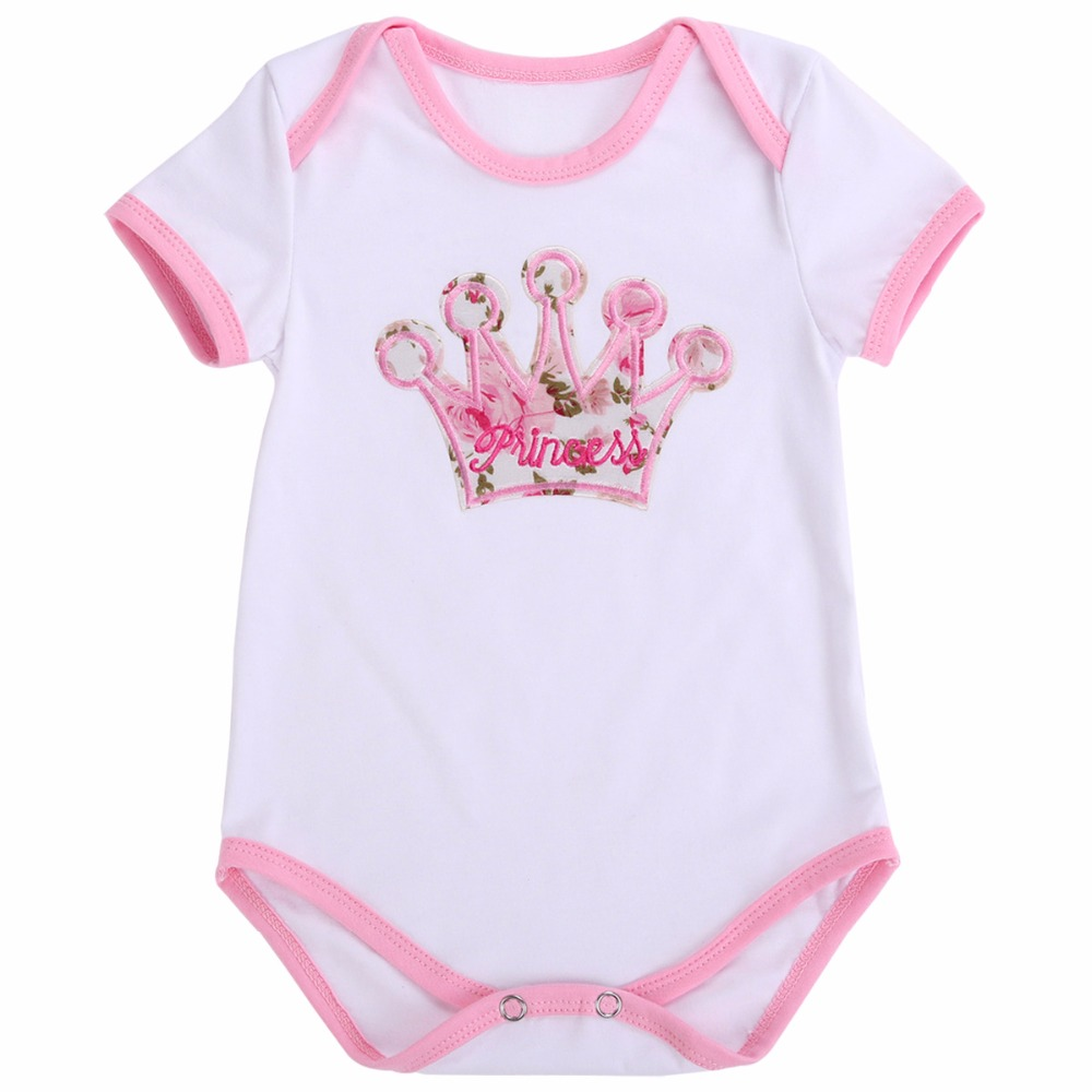 75613842562 0-24M Baby Girl Clothes Newborn Cotton Bodysuit Unicorn Short Sleeve Body  Bebe Infant Jumpsuit Summer Pajamas Twins Clothing