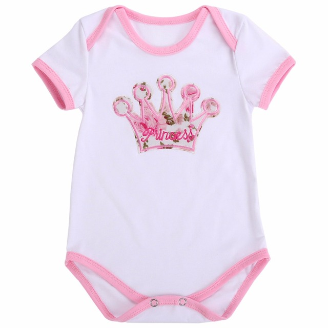 8cc463c7aed5 0 24M Baby Girl Clothes Newborn Cotton Bodysuit Unicorn Short Sleeve ...