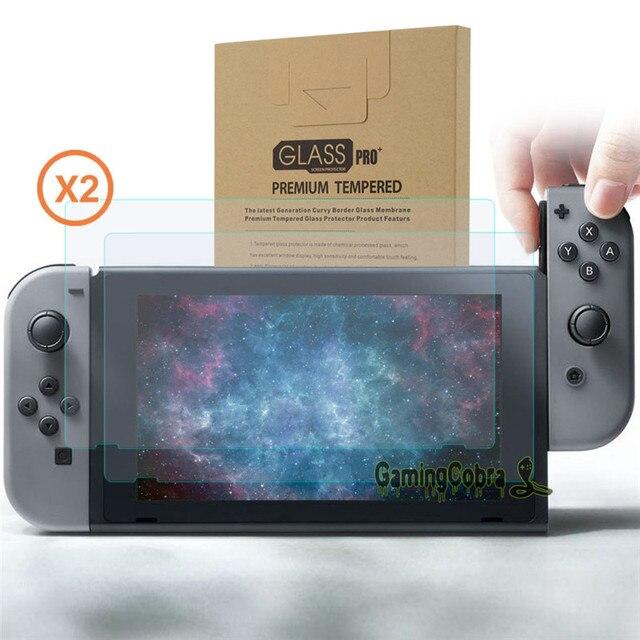Silver Skin Sticker Covers + 2 Pcs Glass Screen Protectors for Nintendo Switch Console Joy-con - YSNS0344+NSPJ0014GC 1