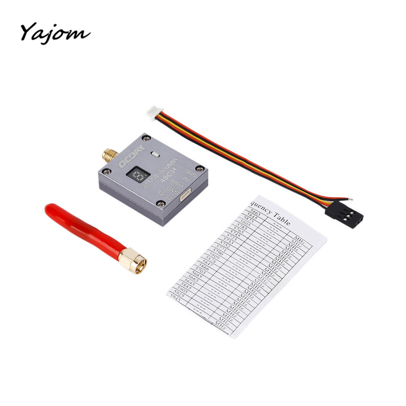 Free for shipping OCDAY 25-600mW 5.8G 48CH 2S-6S Video Audio Transmitter SMA Straight Connector Brand New High Quality May 10