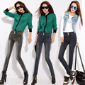Women's New Slim Was Thin Stretch Breasted Waist Jeans Fashion Denim Skinny Pants