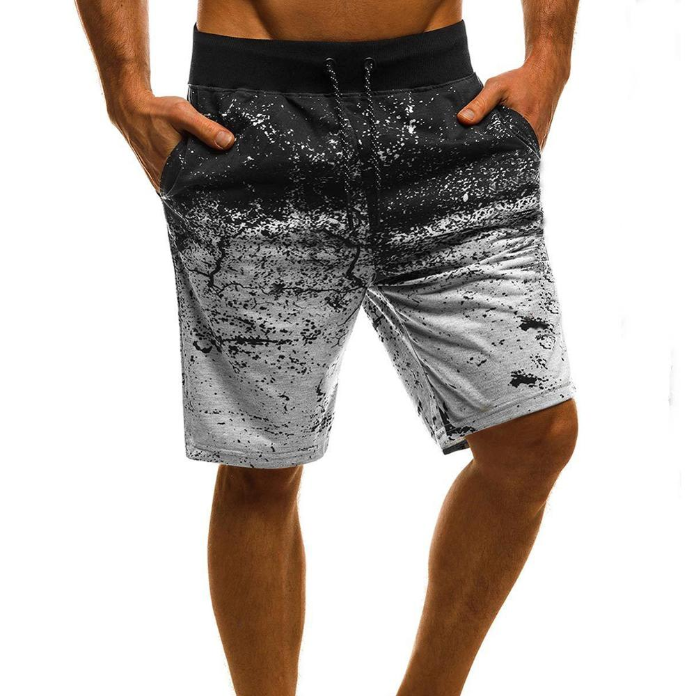 Men's Beach Shorts Sports Trunks Male Casual Shorts Summer Printing Shorts Bathing Suits With Pockets