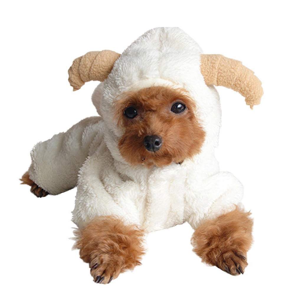 Super Warm Winter Dog Clothes Christmas Sheep Costume For