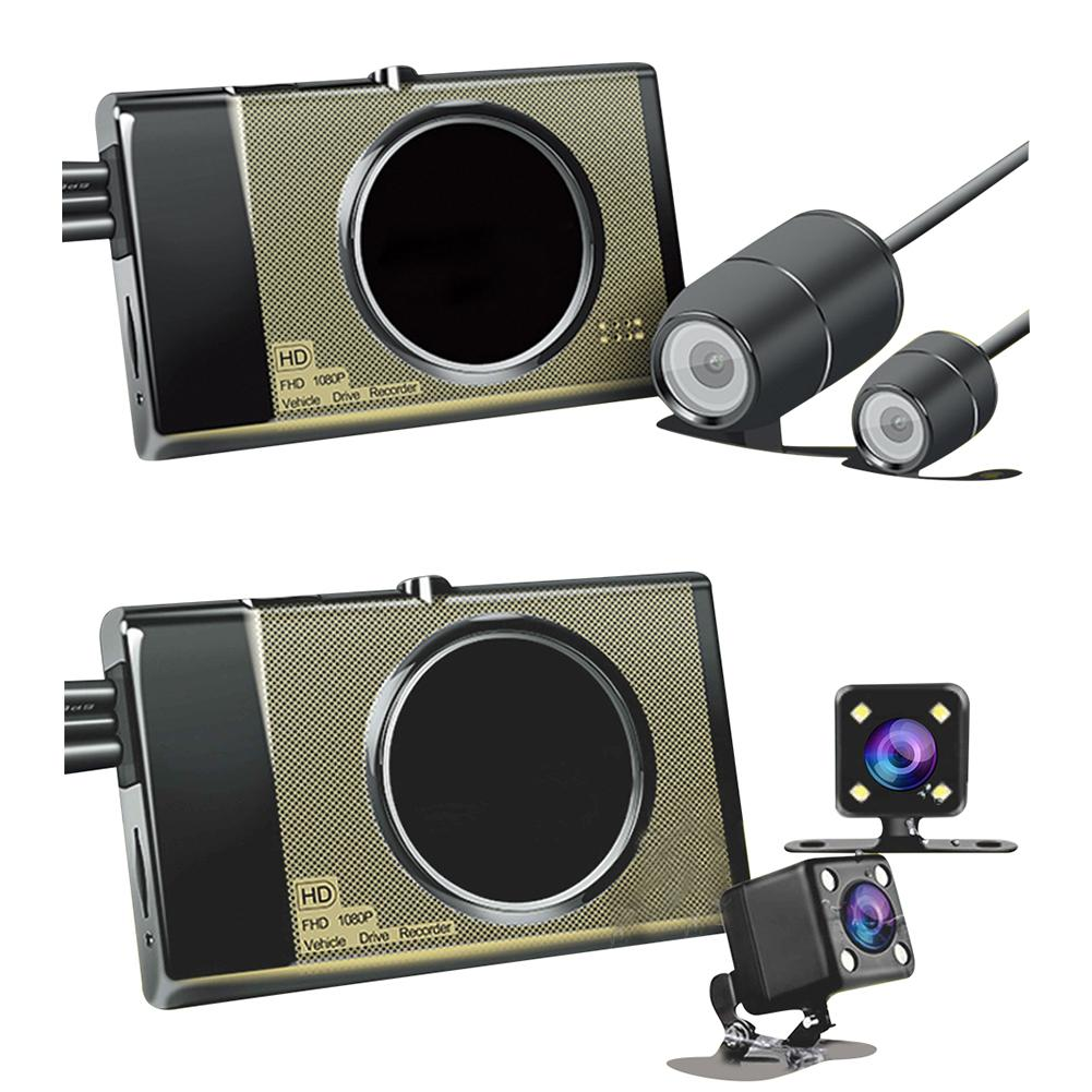 3 Dual Camera Motorcycle Recorder Locomotive Recorder With Front 1280P 720P Rear View Camera Motorbike Driving