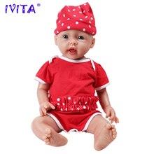 IVITA WG1515 50 см 3960 г реалистичные голубые глаза силиконовые новорожденные младенцы мягкие реалистичные игрушки для девочек детские Juguetes Poupee Enfant