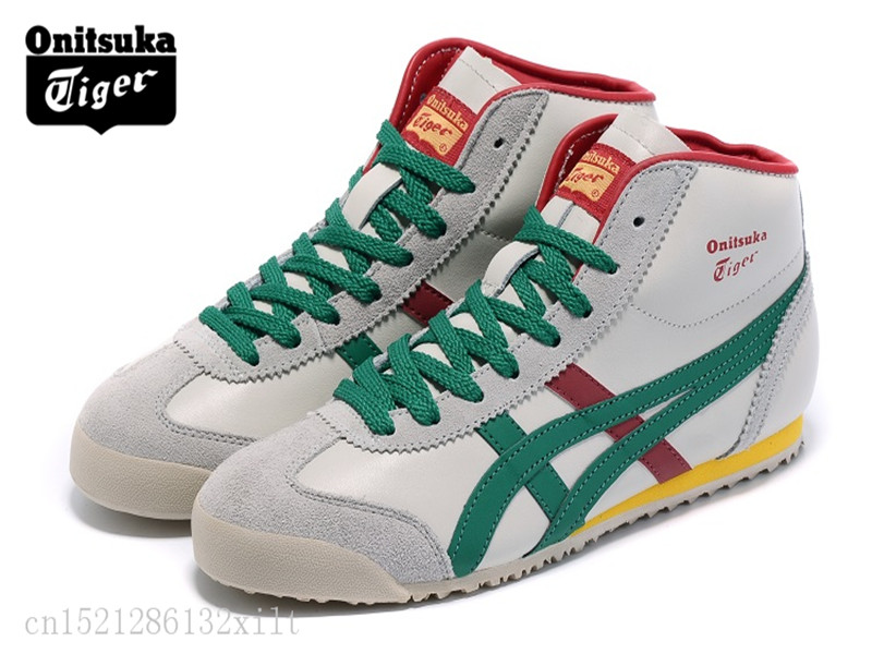 various colors 905d4 edead ONITSUKA TIGER SERRANO Original Shoes Men's Women The first layer of  leather white Unisex High Classic Sneakers Badmin size37 44-in Badminton  Shoes ...