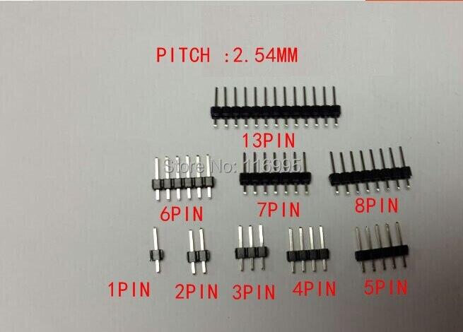 Free shipping 100pcs 1X3PIN PIN HEADER PITCH 2.54mm V/T TYPE length 11.5mm