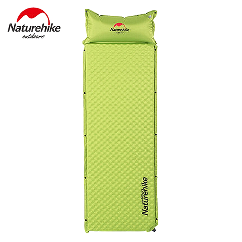 Naturehike Automatic Inflatable Camping Mat 1 Person Moistureproof Cushion Splicing Air Mattress Egg Slot Sleeping Pad Tent Mat free shipping 10 2m inflatable air track inflatable air track inflatable gym mat trampoline inflatable gym mat