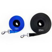 10m 20m Strong Nylon Dog Long Leash Pet Training Black Blue Handle Padded Rope for Medium Large Dogs