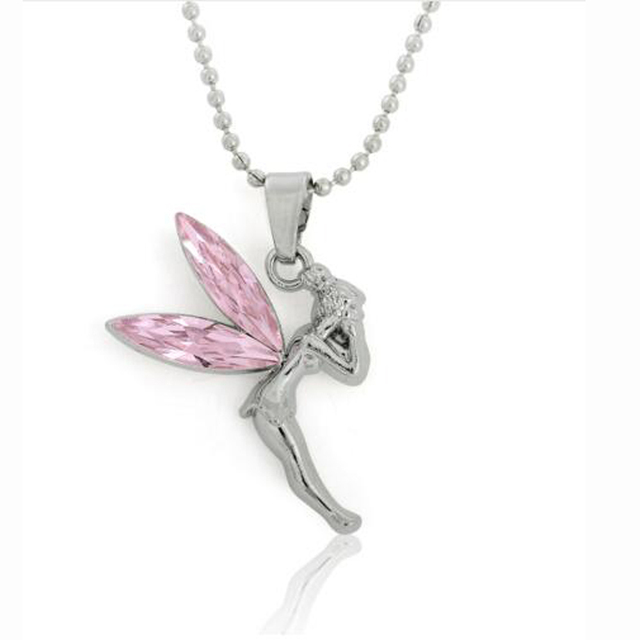Silver plated fairy tinkerbell pendant necklace for girl in chain silver plated fairy tinkerbell pendant necklace for girl aloadofball Gallery
