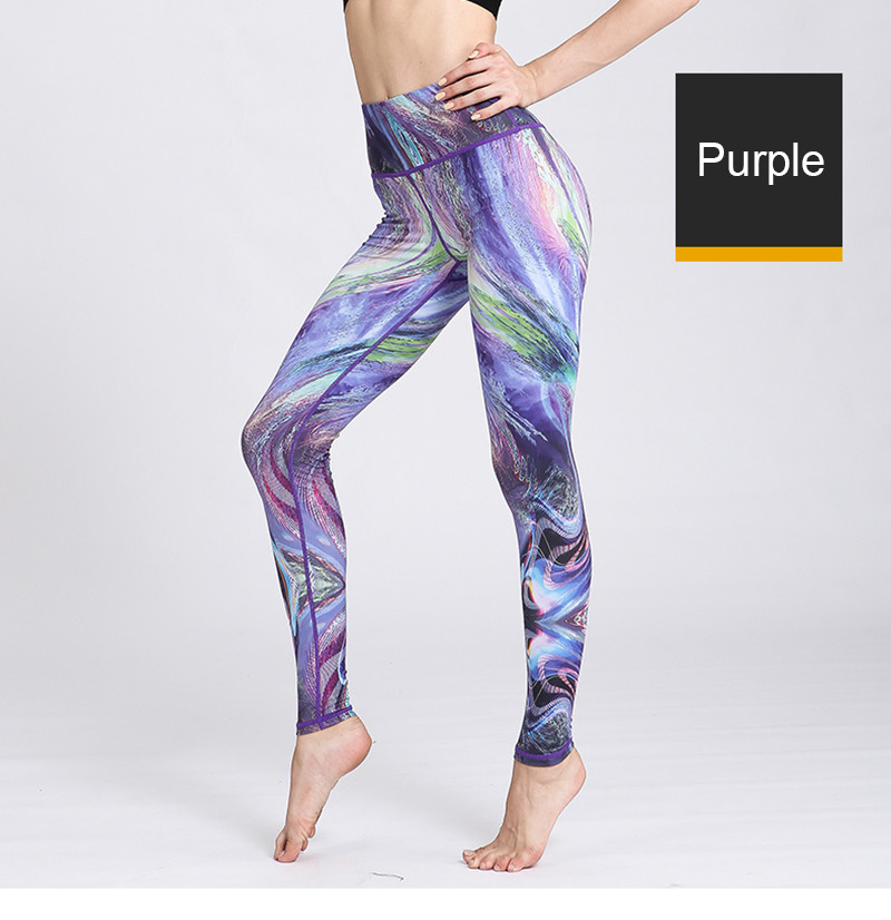 HTB1T.qCOxTpK1RjSZFMq6zG VXaA - Fast Dry Women Yoga Pants Workout Print Gym Leggings Running Fitness Training Elastic Sexy Long Tights Trousers for Dancing