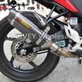 Universal Modificado Motocicleta Silenciador Tubo de Escape Para A KAWASAKI NINJA 250 2008 2009 2010 2011 2012