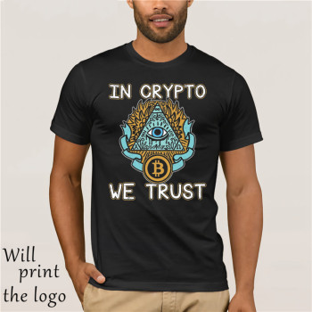 2018 Summer Short sleeve Fashion Tee Shirt In Crypto We Trust Bitcoin Shirt Cryptocurrency Tshirt