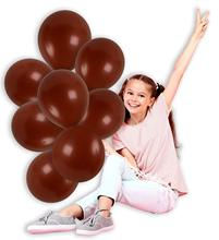 metable Pack of 100 12 Inch Thick Latex Balloon Bulk  Party Supplies for Sports Events Brown Bear Birthday Decoration