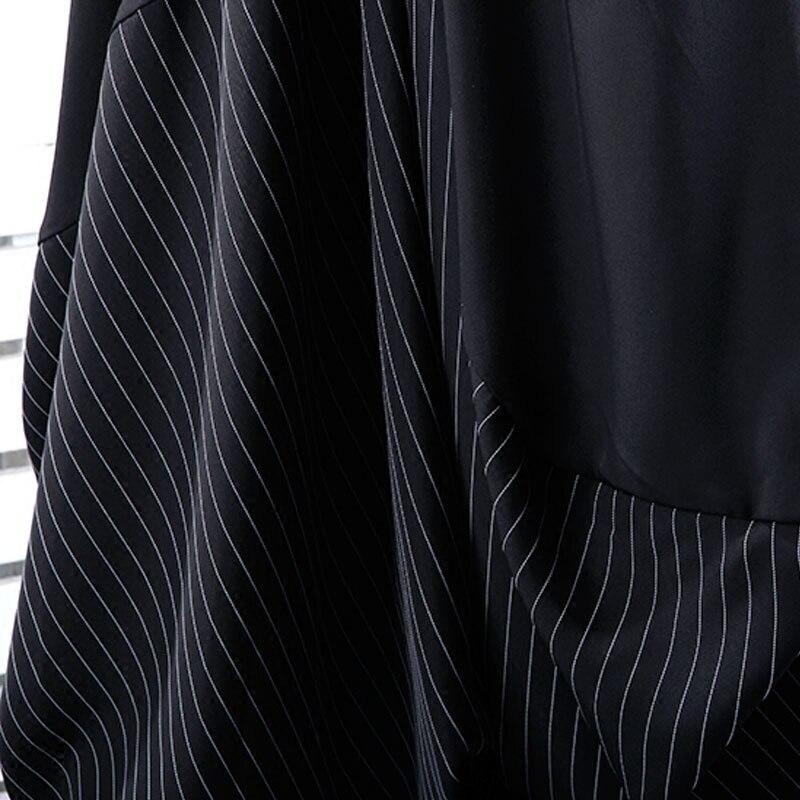 Harem Black Pantalones Nueva Bikini Caliente Las Banda Be122 Irregular ewq Asimetría Suelta Venta De Patchwork Elástica Otoño Moda Mujeres UYxqwd0