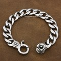 "7.6""~11.6"" 316L Stainless Steel Mens Biker Rocker Bracelet 5E004 Free Shipping"