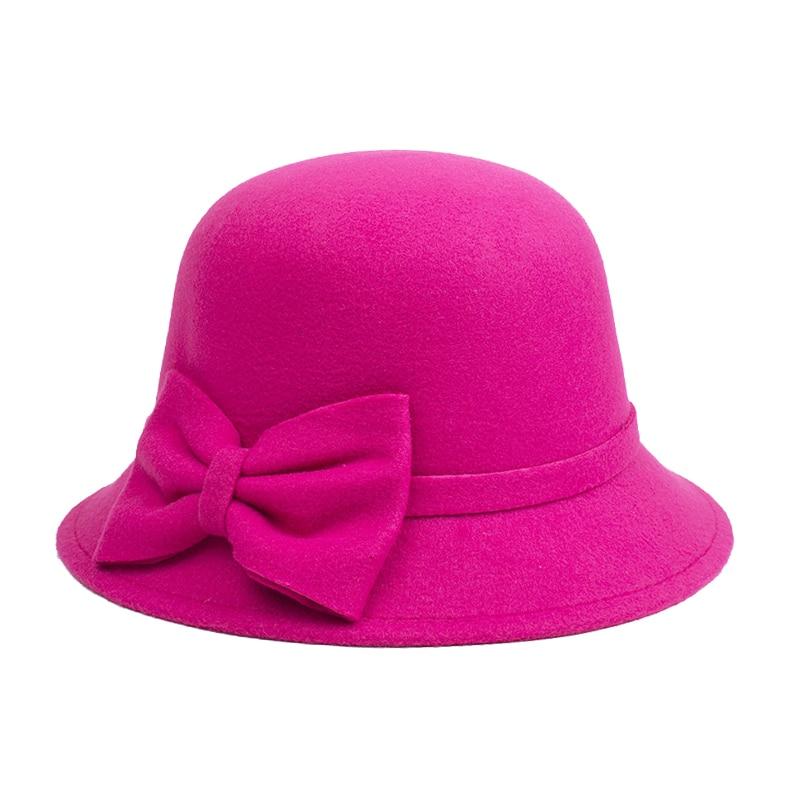 [DINGDNSHOW] 2019 Բրենդ Fedora Hat Մեծահասակ բուրդ - Հագուստի պարագաներ - Լուսանկար 2