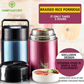 Термос OWNPOWER  пищевой контейнер  вакуумная фляжка  суп  пищевой термос  бутылка с термо-сумкой  суп-пот  Ланч-бокс  изолированная пища  в компле...