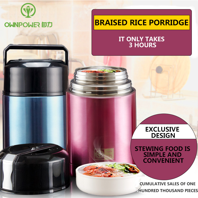 OWNPOWER Thermos Food Container Vacuum Flask Soup Bottle with Thermo Bag Pot Lunch Box Insulated Contain