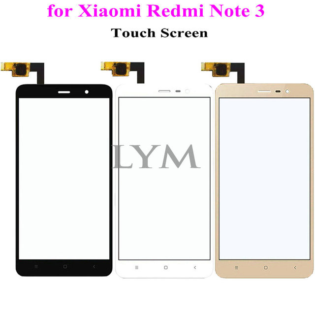 "Black White Gold TP for Xiaomi Redmi Note3 ,Redmi Note 3 Pro 5.5"" Touch Screen Digitizer Glass Panel No LCD Replace Free Tools"