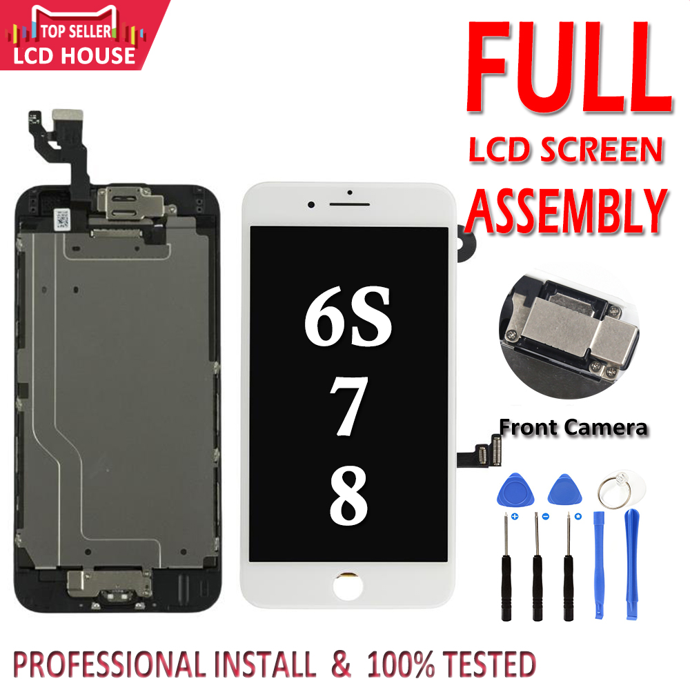 AAA LCD For iPhone 6S 7 8 Plus 7P 8P Display Full Set Assembly Touch Digitizer Screen Replacement with Front Camera+Ear SpeakerAAA LCD For iPhone 6S 7 8 Plus 7P 8P Display Full Set Assembly Touch Digitizer Screen Replacement with Front Camera+Ear Speaker