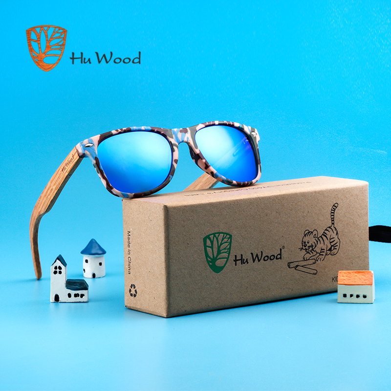 Origineel Hu Hout Jongen Hout Kids Zonnebril Goggle Eyewear Accessoires Voor Meisjes Rechthoek Zonnebril Spiegel Uv400 Lens Gr1005