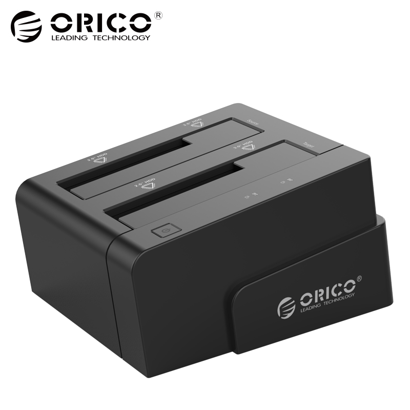 ORICO Hard Drive Docking Station USB 3.0 To Sata 2.5 3.5 Dual Bay hdd Case Box Tool Free Duplicator 16TB for Windows Mac OSX9.1