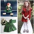 Vintage Dress for Baby Girl 2017 New Trendy  Baby Girl Mini Dress Half Sleeve O-neck Kids Girl's Princess Dress Kids Clothing
