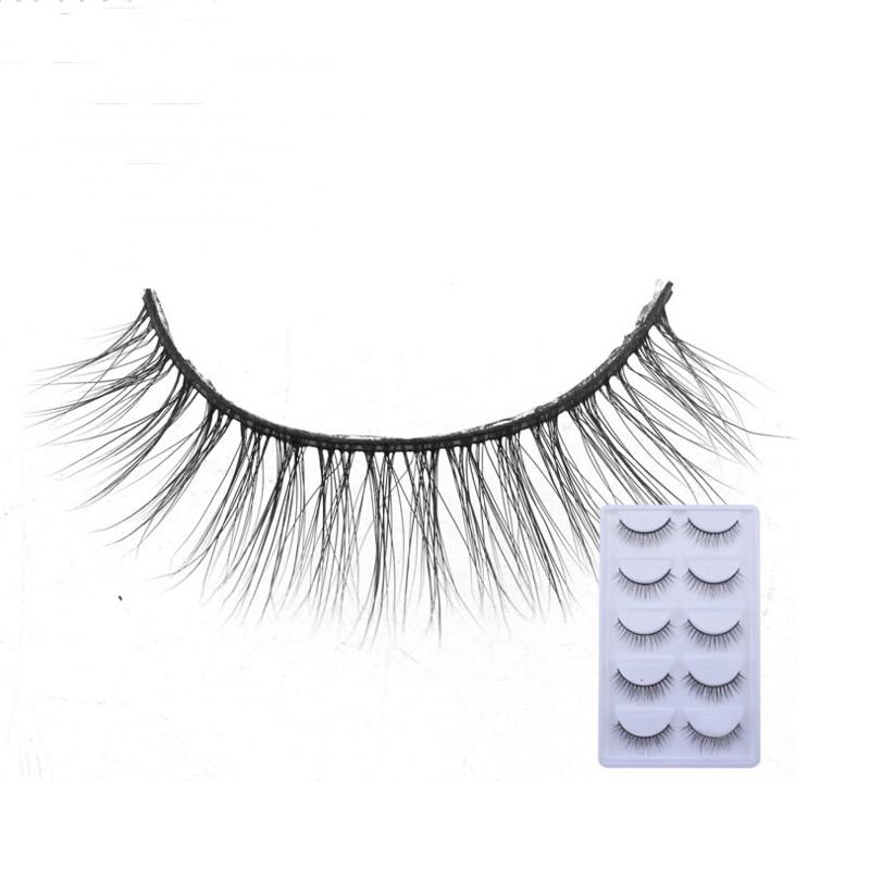 2018 NEW 5 Pairs mink eyelashes natural long 3d mink lashes hand made false eyelashes 1 box makeup eyelash extension E17