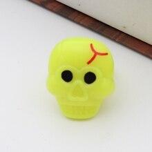 LED Halloween Flash Pumpkin Bat Skeleton Glow Ring Decorations Accessories Fluorescent Luminous Toy Kids Gift