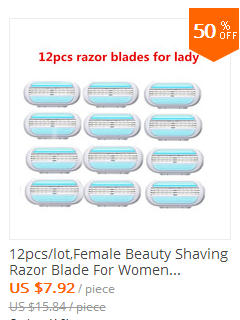 8pcs Razor Blades + 1pcs Handle,Female Shaving Razor Blade For Women Body Hair Trimmer Women' Shaver Sharpener Razor Epilator 3