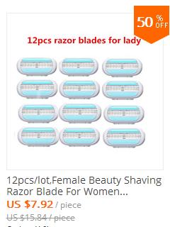 8pcs Razor Blades + 1pcs Handle,Female Shaving Razor Blade For Women Body Hair Trimmer Women' Shaver Sharpener Razor Epilator 3