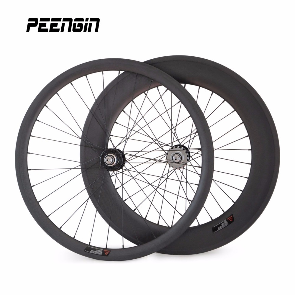 88mm rear wheel bike carbon mixed wheelsets 25mmx38mm front clincher wheel/rim fixie bike wheels fixed gear cycling part online