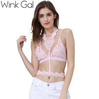 Wink Gal 2017 New Fashion Woman Underwear Sexy Bra Embroidery Solid Brassier Bralette Hot Summer Lace
