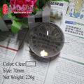 Acrylic Ball 7cm 220g acrylic juggling ball magic ball (70mm) 2016 new arrived Color Clear or Random Send