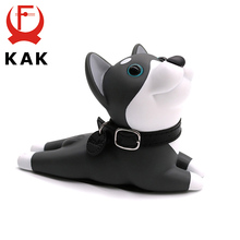 цена на KAK Cute Door Stops Cartoon Creative Silicone Baby Door Stopper Holder Safety Toys For Kids Room Children Furniture Hardware