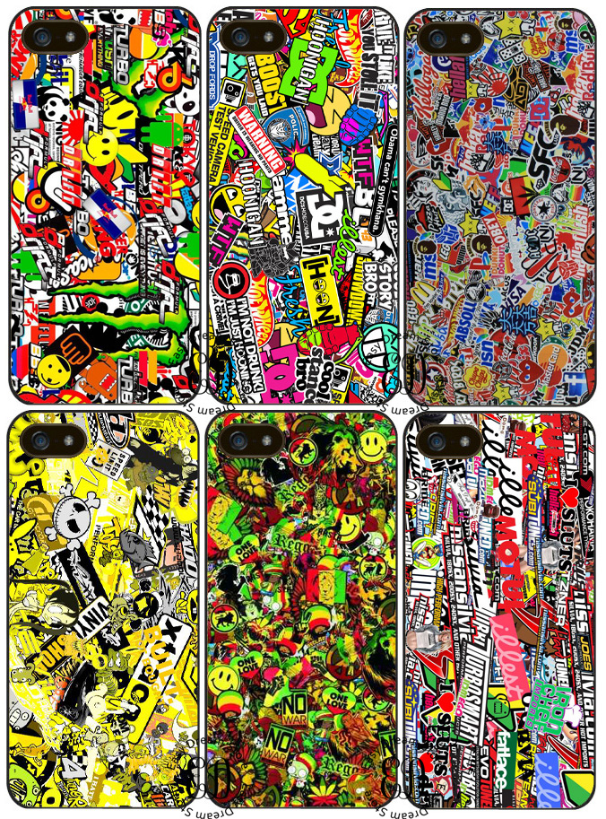 Motocross MX Sticker Bomb case for iphone X 4s 5 5s SE 5c 6 6s 7 8 Plus Samsung J7 s4 s5 mini s6 s7 s8 s9 edge plus Note 3 4 8