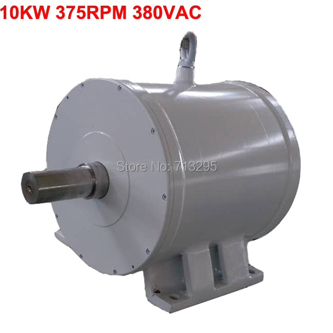 10KW 375RPM 380VAC low rpm horizontal wind & hydro alternator/ permanent magnet water power dynamotor hydro turbine