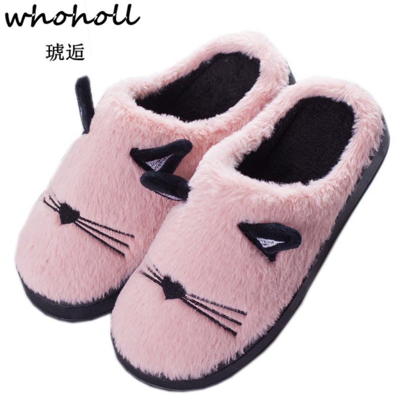 Women Winter Home Slippers Cartoon Cat Shoes Non-slip Soft Winter Warm House Slippers Indoor Bedroom Lovers Couples Floor Shoes victorinox офицерский нож victorinox 1 3763 71