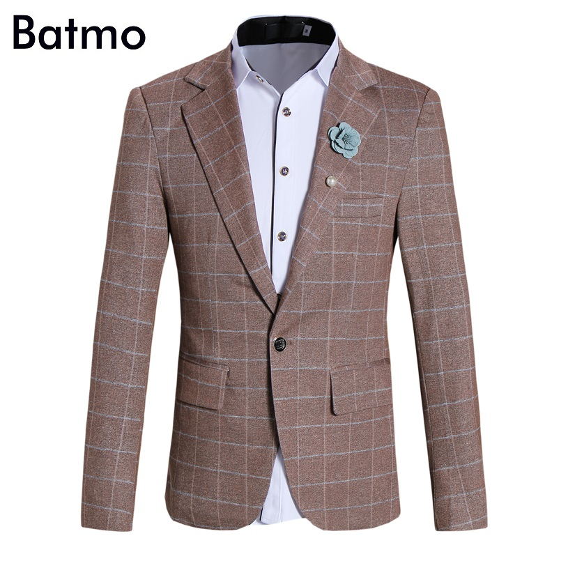 2017 New arrival autumn&winter plaid Men's Blazer Casual Blazer For Men Blazer wedding suit Men S,M,L,XL,XXL,3XL,4XL,5XL,3 color женское платье andys 5xl m l xl xxl 3xl 4xl 5xl vestidos f27