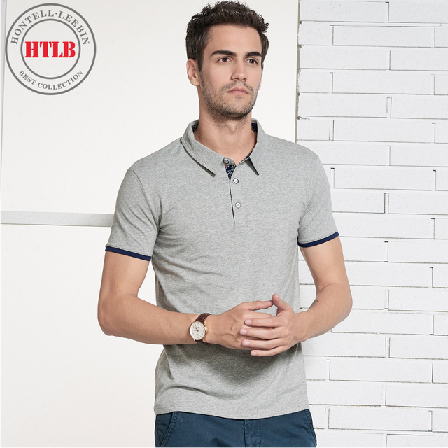 f46fe6280 HTLB Men s Summer Business Casual Polo Shirts Brand New 2018 Fashion  Turn-down Collar 100% Cotton Soft Polo Shirts Tops Tees Men