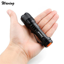 1PC 1500LM CREE Q5 AA/14500 3 Modes ZOOMABLE LED Bicycle Bike Front Head Light Durable Flashlight Torch Super Bright Jan 6