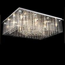 Moderne Minimalistische Led Wohnzimmer Lampe Schlafzimmer Atmosphre Kristall Rechteckige Deckenleuchte