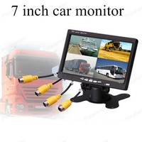 Auto Monitor 7 Inch Resolution LCD Vehicle Digital With Remote Control Car Monitor Display For Reversing