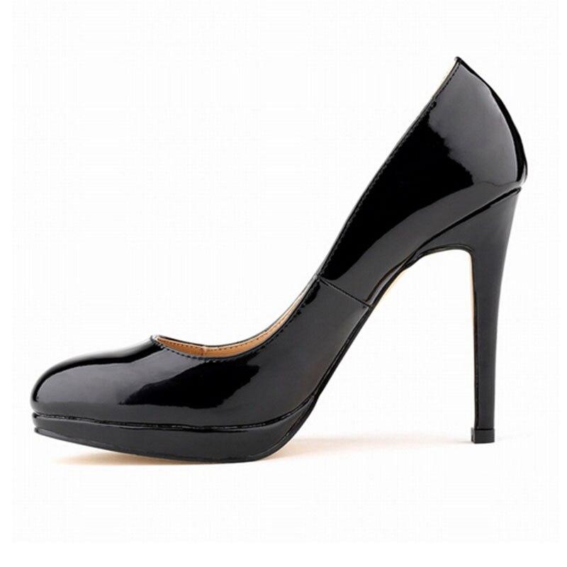 buying now great fit shopping € 35.23 23% de réduction Grands Chantiers Talon Mince Pompes Femmes Talons  Hauts Semelle Rouge Chaussures En Cuir Noir Bout Pointu Chaussures à talons  ...