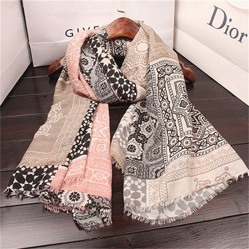 Hot sale print plaid twill foulard fringe Muslim hijab women scarf pashmina bandana silk wraps shawls
