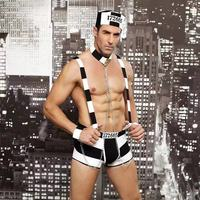 Sexy Role Play Prisoner Uniform For Man SM Chain Belt Erotic Sexy Cosplay Sailor Costumes Sex Product Necklace Porn Bodydolls