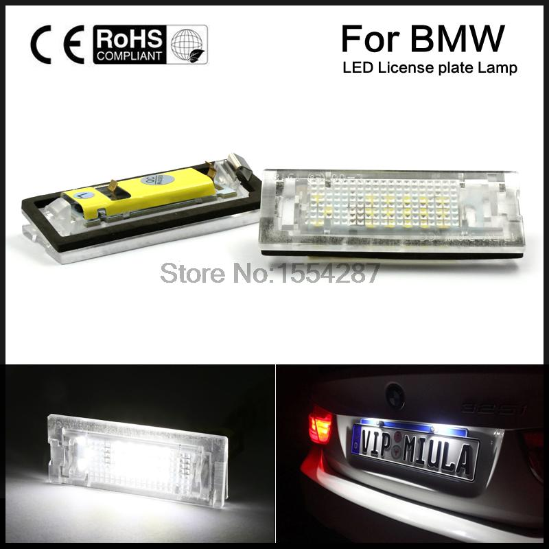 2x Error Free LED Number License Plate Light For BMW E39 5D 5 Door Wagon Touring 2 x led number license plate lamps obc error free 24 led for bmw e39 e80 e82 e90 e91 e92 e60 e61 e70 e71