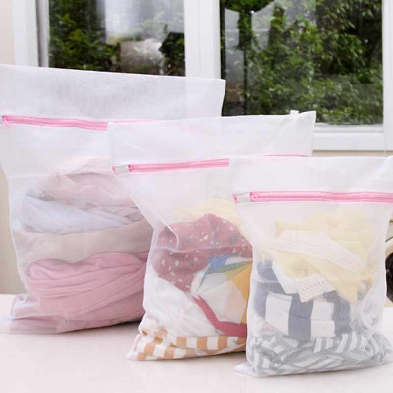 Depreciate sales Clothes Washing Machine Laundry Bra Aid Lingerie Mesh Net Wash Bag Pouch Basket femme Travel Receive bag